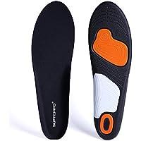 SUPTEMPO 低反発インソール 衝撃吸収中敷き メンズ 足裏サポーター 通気 防臭 スポーツ 立ち仕事用 サイズ調整可