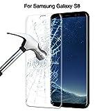 Samsung Galaxy S8 フィルム, iMeetful Galaxy S8 ガラスフィルム 表面硬度9H 全面保護 液晶保護ガラスフィルム 指紋防止 気泡ゼロ 飛散防止 超薄 Samsung ギャラクシー S8 液晶保護フィルム ケース