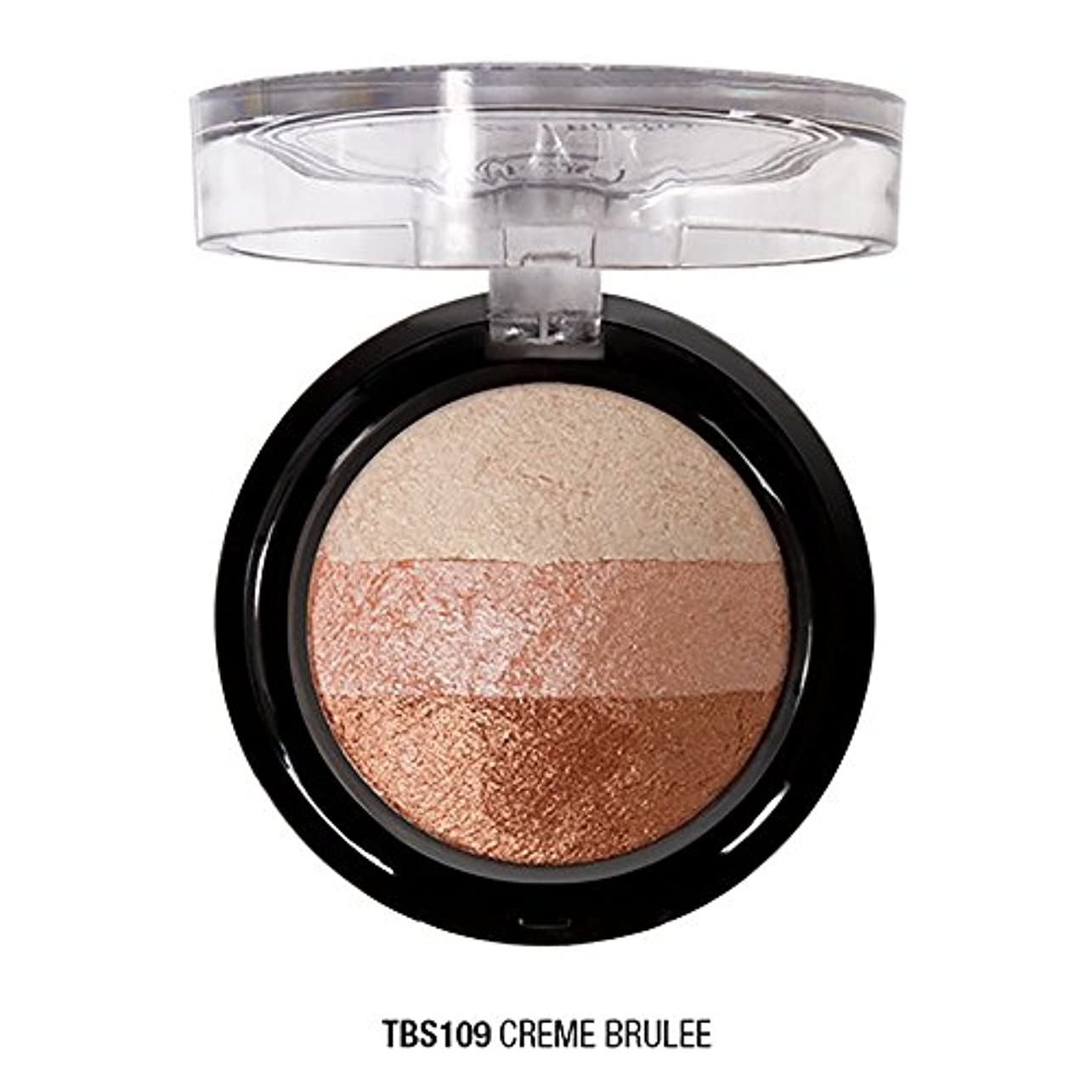 パール賞賛する狭いJ. CAT BEAUTY Triple Crown Baked Shadow - Creme Brulee (並行輸入品)