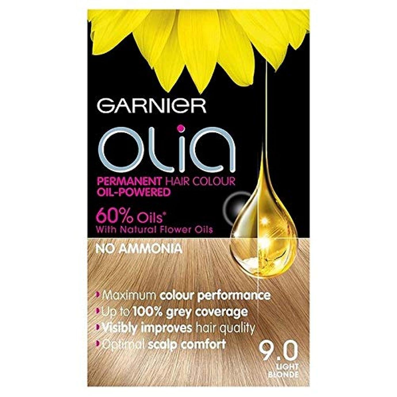 分滞在霊[Garnier ] 9.0光ブロンドの永久染毛剤Oliaガルニエ - Garnier Olia 9.0 Light Blonde Permanent Hair Dye [並行輸入品]