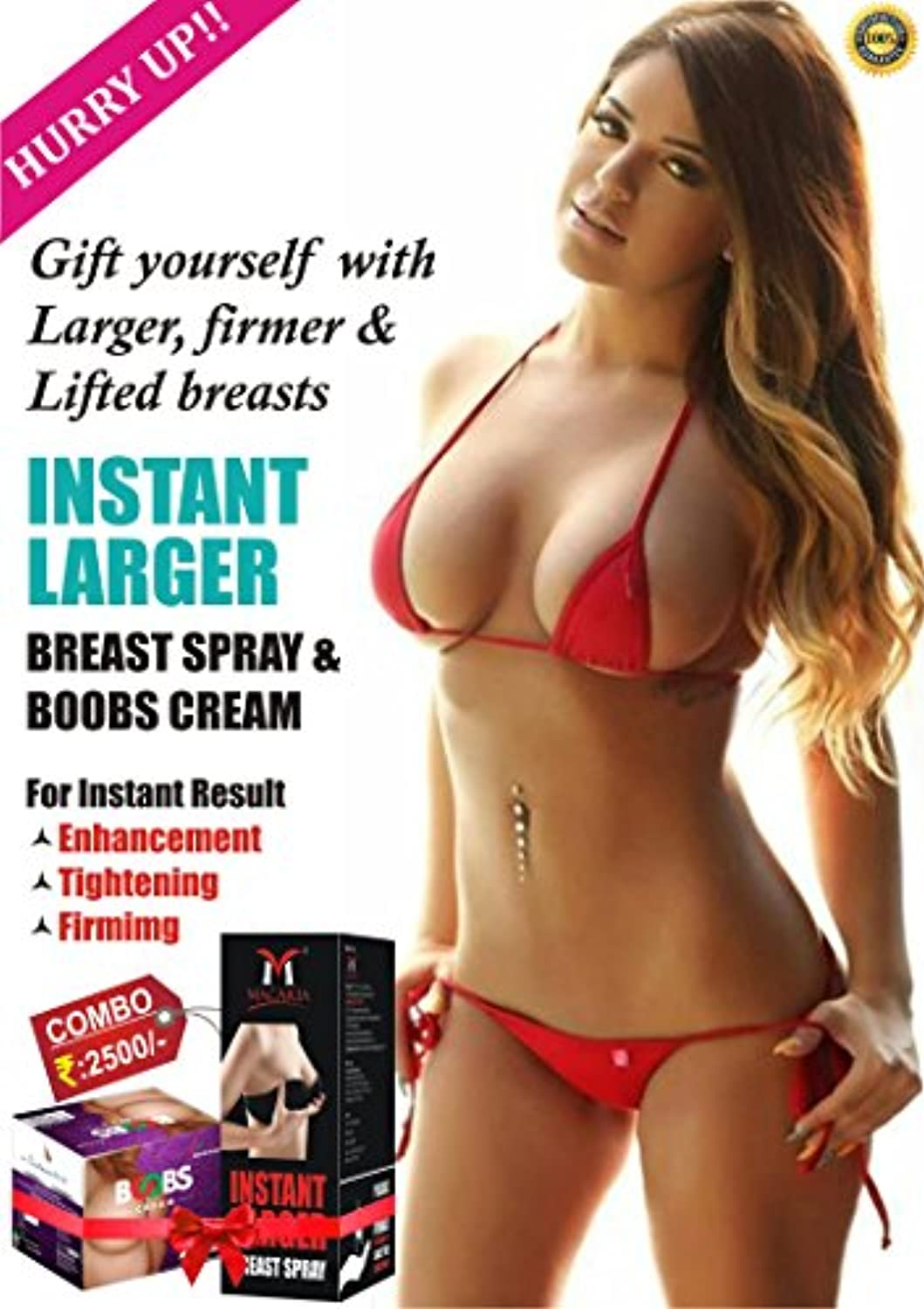 LARGER BUST CREAM WITH SPRAY
