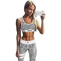 Morbuy Yoga Wear Set, Women's Sportswear Wear/Vest and Top & Leggings Stretch-Fit Yoga Gym Wear Set Exercise Fitness Vest Gymwear