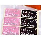 【バレンタイン】ラッピング シール ラベル 40枚(ピンク20枚 チョコブラウン20枚)