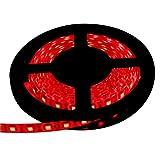【テープ単体】 12V 両端子 5M 3チップ 防水LEDテープライト LEDイルミネーション (赤色/白ベース)