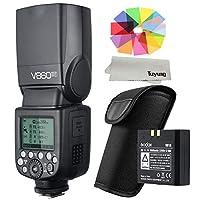Godox V860II-F E-TTL 1/8000S HSS マスタスレーブ GN60 スピードライト フラッシュ 内蔵2.4G ワイヤレス X システム with 2000mAh 充電式 リチウムイオン電池付 き 富士 X-Pro2 X-T20 X-T1 X-T2 X-Pro1 X100F カメラ