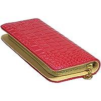 財布 レディース財布 クロコ柄 ラウンドファスナー ラウンドジップ 財布 さいふ プレゼント ギフト ピンク