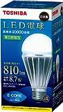 TOSHIBA E-CORE LED電球 一般電球形8.7W(白色相当) LEL-AW8N  口金直径26mm