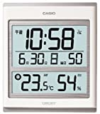CASIO (カシオ) 掛け時計 温度表示 湿度表示 電波クロック ID-52J-7JF
