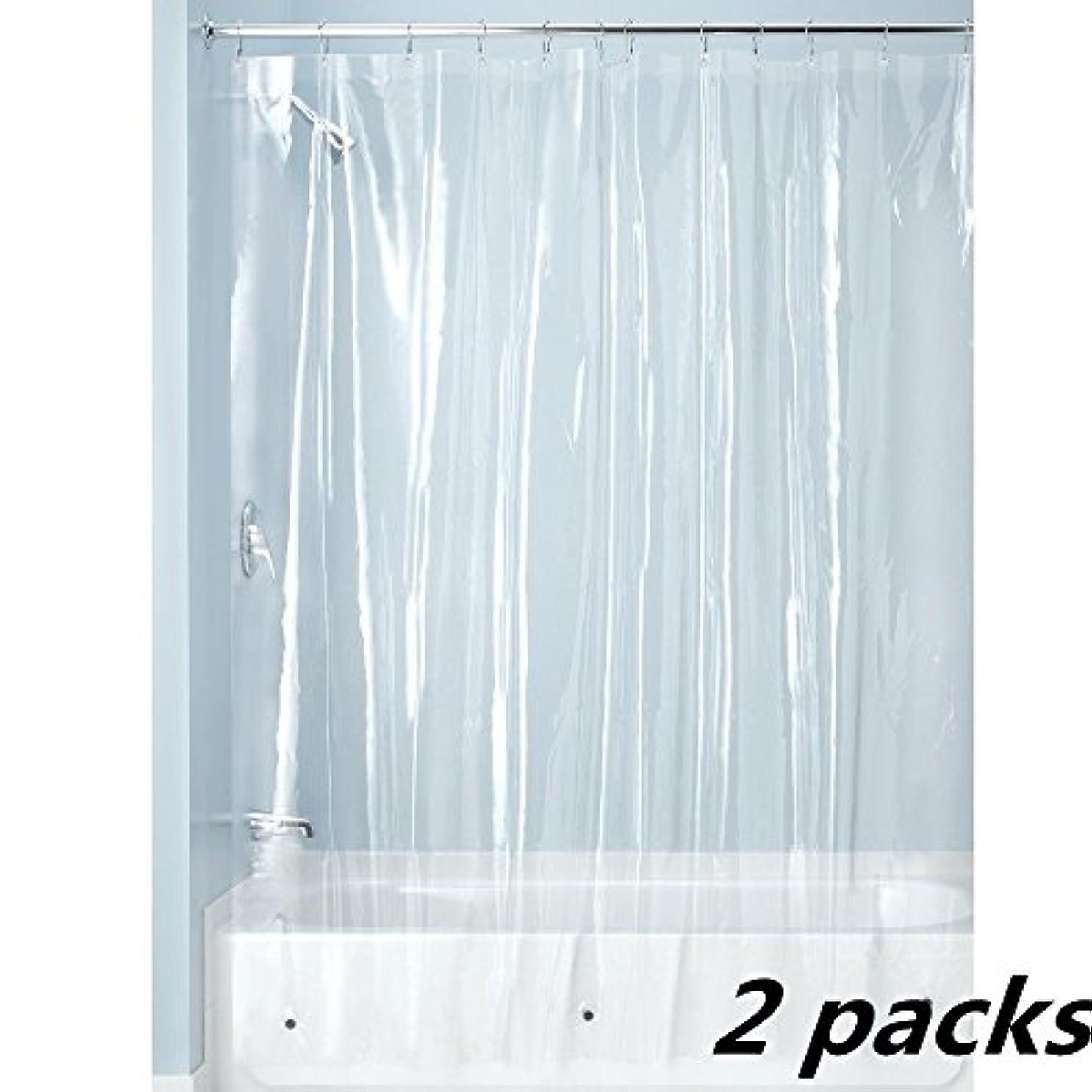 写真のサーフィン役立つSfoothome シャワーカーテンバスルームPEVAシャワーカーテン防水 無臭、下には磁石があり,カーテンリングがない 2パック(180cm*180cm)