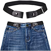 Sanwooden Trendy No Buckle Stretch Waist Belt Ladies Elastic Belt for Women Mens Invisible Jeans Belt