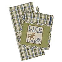 Design Imports Life is Better at the Lake Potholder & Dishtowel Gift Set by Design Imports