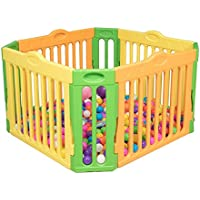 赤ちゃんPlaypenの子供のプラスチック屋内の屋外多目的マルチカラーフェンス8パネルの安全性のプレイセンターヤード