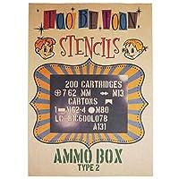 ステンシルシート AMMO BOX(弾薬箱) (type2)
