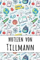 Notizen von Tillmann: Liniertes Notizbuch fuer deinen personalisierten Vornamen