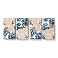 YEHO アートギャラリー キャンバスウォールアート モダンペインティング ホームデコ レトロ 3Dライオンズ アニマルパターン キャンバスアートワーク 木製フレームで枠張り済み すぐに掛けられます 24 x 41in x 4 181010WHLWHLYAGYHYHSLXM00799NDBFYAG