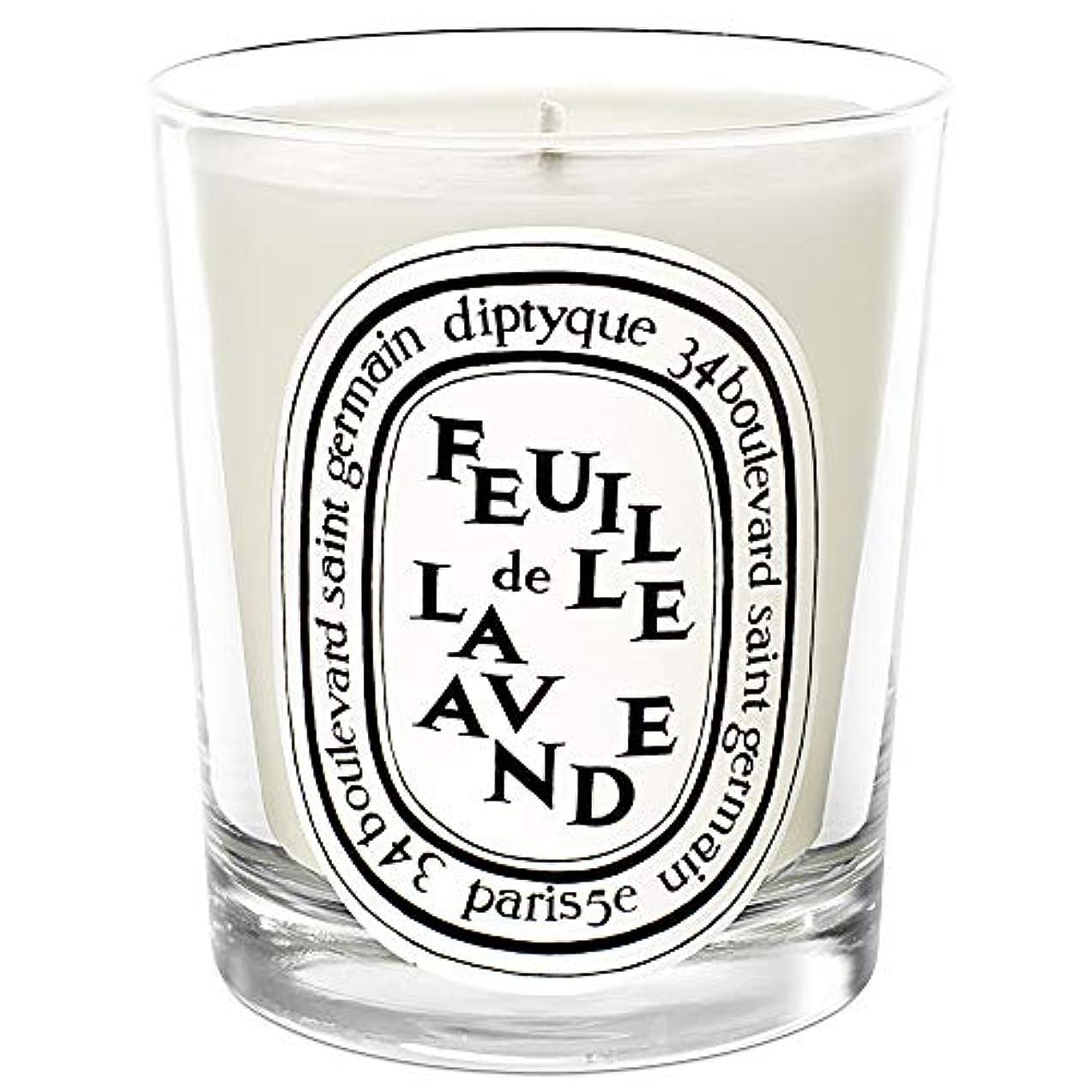 騒々しい飛ぶ返済[Diptyque] DiptyqueのFeuilleデラバンデ香りのキャンドル190グラム - Diptyque Feuille de Lavande Scented Candle 190g [並行輸入品]
