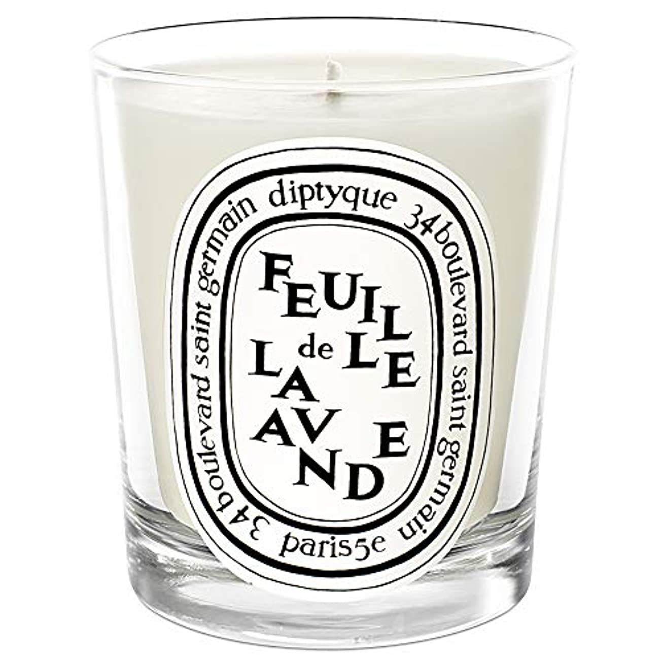 少年気づくなる選出する[Diptyque] DiptyqueのFeuilleデラバンデ香りのキャンドル190グラム - Diptyque Feuille de Lavande Scented Candle 190g [並行輸入品]