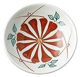 砥部焼 豆皿 梅山窯 3寸 丸皿 色絵菊紋 約φ9×2.7cm