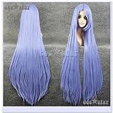 ロングストレート ブルーパープル(青紫/約100cm) コスプレ用ウィッグ♪