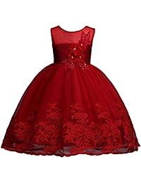 子供 ドレス ガールズ ワンピース キッズドレス フラワードレス ノースリーブドレス刺繍 結婚式 発表会 演奏会など 女の子ドレス?キッズ ドレス 花嫁介添人ドレス ピアノ発表会 子どもドレス