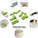 Plentyグリーン3個セットClip 自由に変形でき 万能 クリップ 配線 すっきり イヤホンケーブルまとめ スマホ スタンド シリコン製 多機能 マグネット クリップ