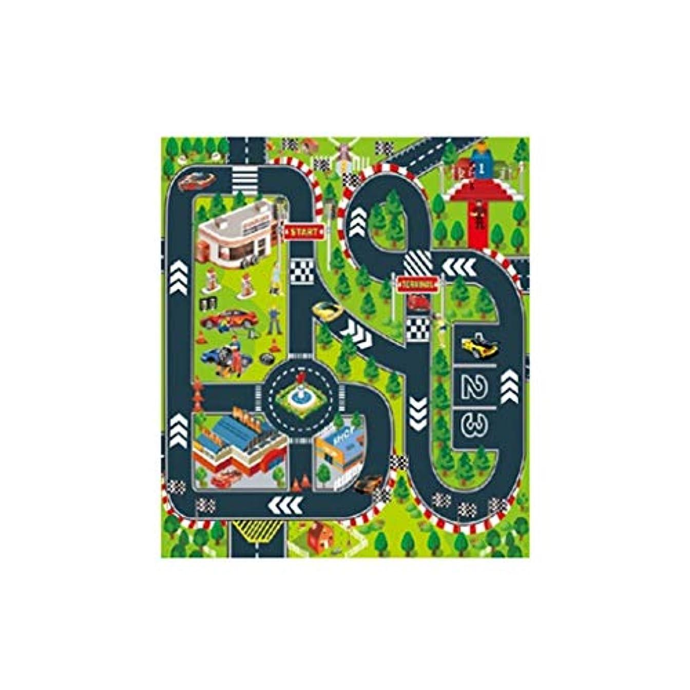 複雑な真面目な飾るLazayyii キッズラグ 交通カーペットマット 子どもシーン教育 (A)