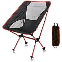 【アウトドアチェア?キャンプ用品】Linkax コンパクトチェア アルミ合金&軽量 専用ケース付き (折りたたみ椅子)