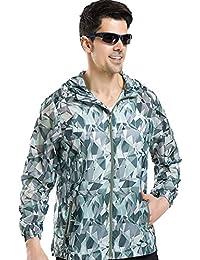 青空販売 メンズ 超軽量 日焼け止め ジャケット UVカット 通気性 速乾性 ウィンドブレーカー サイクルウエア