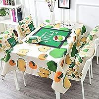 QYM 台所のためのリネン、テーブルリネン、フルーツを食べるための滑らかなカバー生地のコーヒーテーブル長方形のテーブルクロス (Color : 3#, サイズ : 140*230CM)