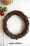 wreath 【ドライフラワーリース台 25cm 】サンキライヒゲつき