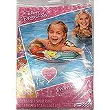 Disney Princess ディズニープリンセス ピンクの浮き輪 ラプンツェル アリエル ベル 女の子 (44.5cm)