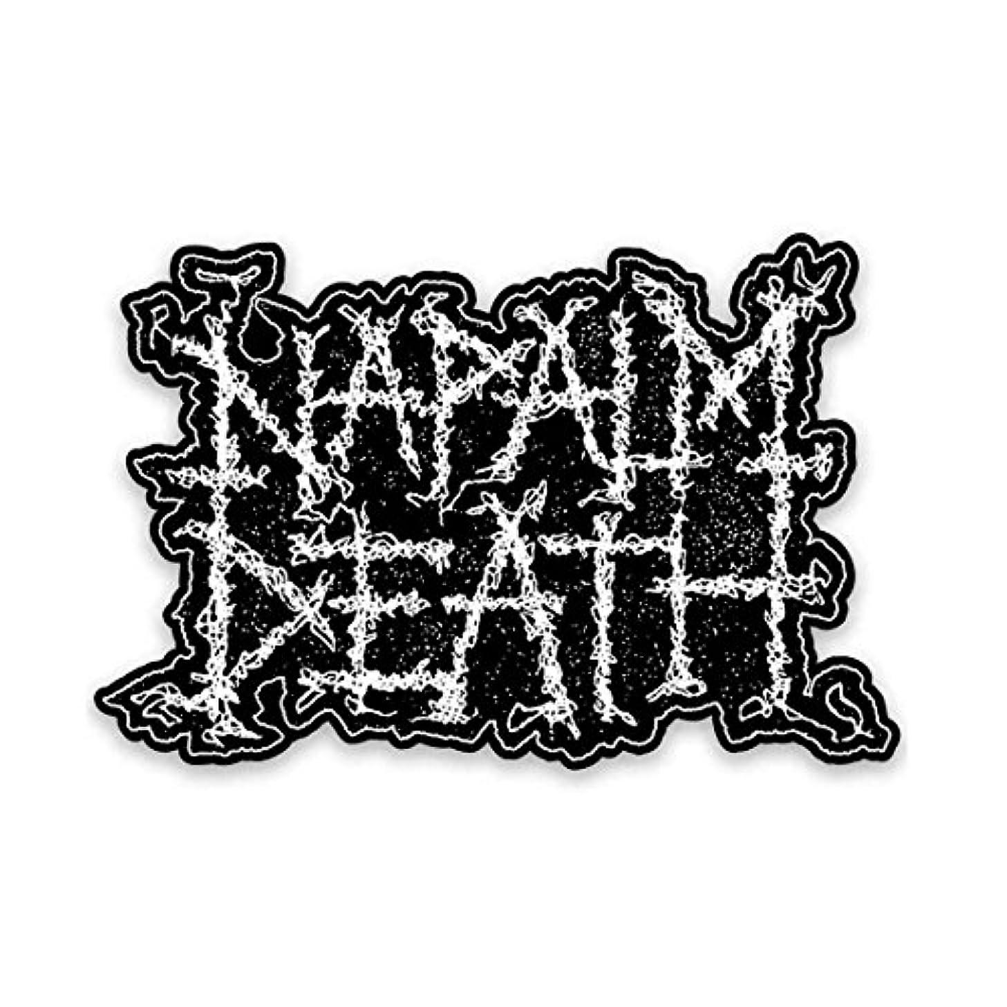 ステッチエミュレーション昇進Napalm Death ステッカー ナパーム?デス Logo
