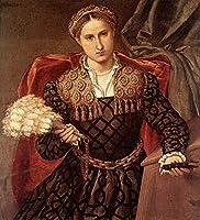 手書き-キャンバスの油絵 - 美術大学の先生直筆 - Portrait of Laura da Pola 1544 ルネッサンス Lorenzo Lotto 絵画 洋画 複製画 ウォールアートデコレーション -サイズ01