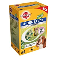 [Pedigree ] 中型犬用血統Dentastix - フレッシュ(28パックあたり - 720グラム) - Pedigree Dentastix for Medium Dogs - Fresh (28 per pack - 720g) [並行輸入品]
