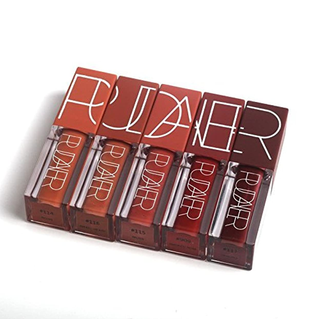 更新するカプラー飲料Pudaier NEW Sexy Lipgloss Pumpkin Color Series kilie Lipstick Liquid Waterproof Long-lasting Matte Lipstick Makeup...