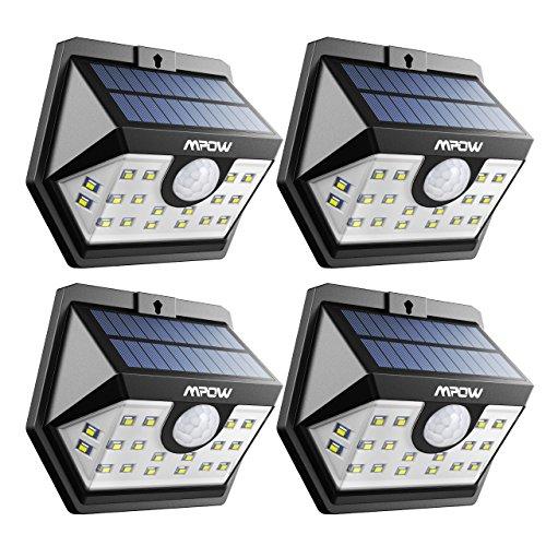 Mpow センサーライト ソーラーライト 20LED 屋外照明 屋外ライト 人感ライト 防水仕様 太陽光発電 自動点灯...