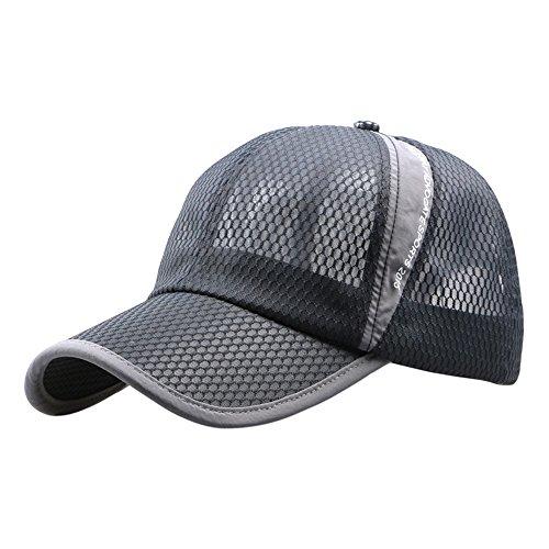 ランニングキャップ 通気性良好メッシュ キャップ テニス 帽...