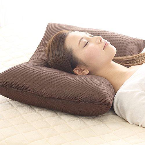 ウォッシャブル枕 メッシュ 43×63 (ブラウン)