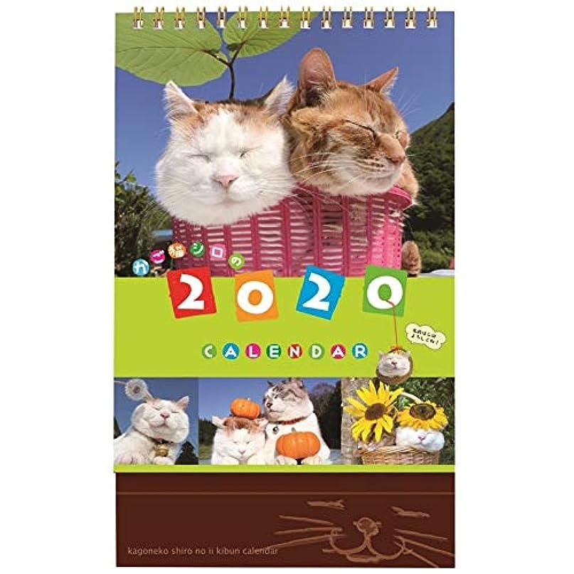 推定八百屋マウスピース学研ステイフル 2020年 カレンダー 卓上 かご猫 M09083