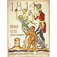 Larsson 1814 Centenary Artist Carnival Advert Large XL Wall Art Canvas Print アーティストカーニバル広告壁