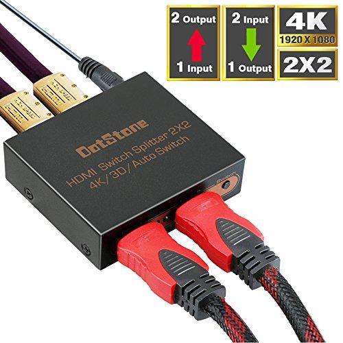 HDMI切替器 DotStone 双方向 hdmi分配器 2入...