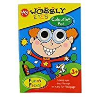 My Wobbly Eyes Colouring Book - Funny Faces
