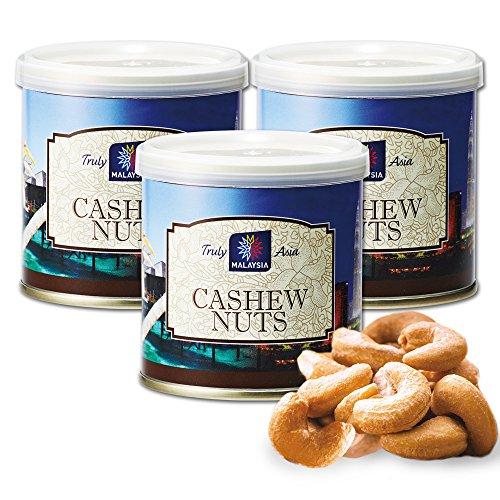 マレーシアお土産 マレーシア 塩味カシューナッツ 3缶セット