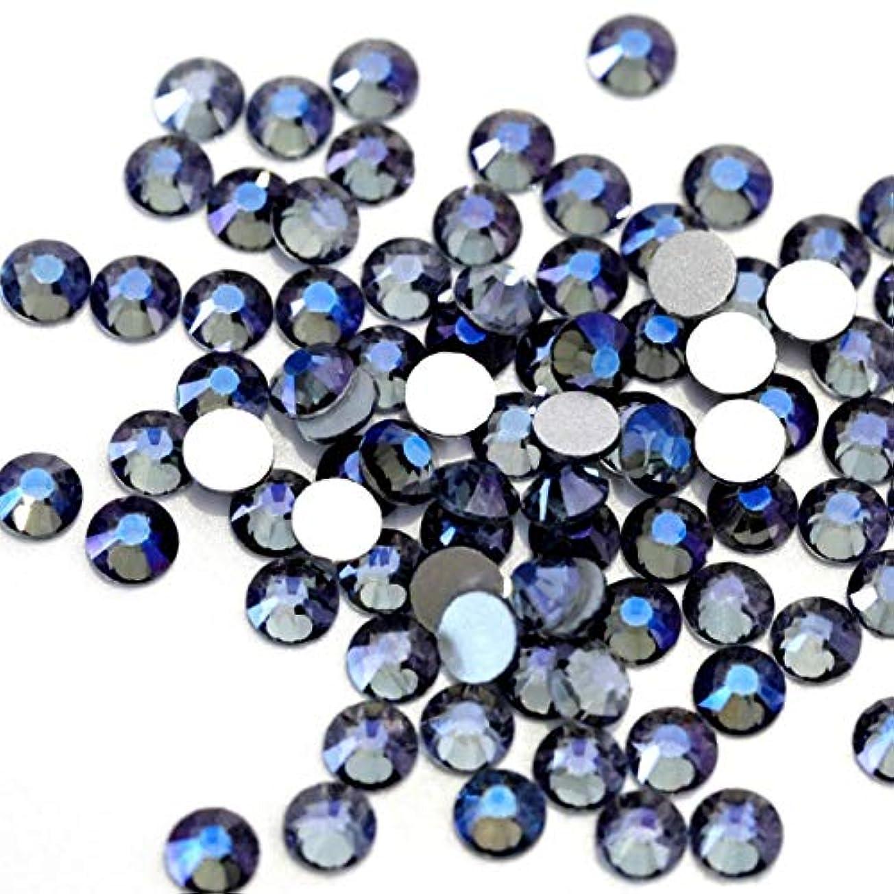 民間人グローの中で【ラインストーン77】高品質ガラス製ラインストーン 色/サイズ選択可 SS3~SS50 スワロフスキー同等 (パープルゴースト, SS10:約2.6mm(約200粒))