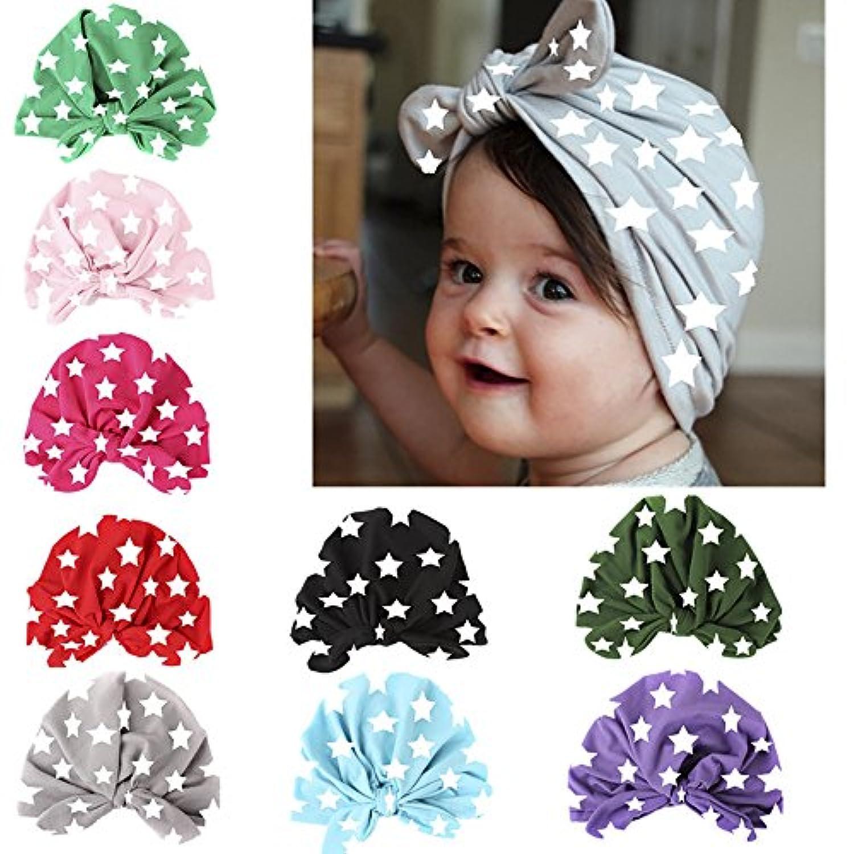 U0U ヘッドバンド5点 改良版 ベビー帽 新生児 女の子 ソフト 可愛い ターバン ノット 病院 帽子