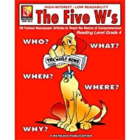 Remedia Publications REM487C Reading Level 4 The Five W's Book 0.1 Height 8.5 Wide 11 Length [並行輸入品]