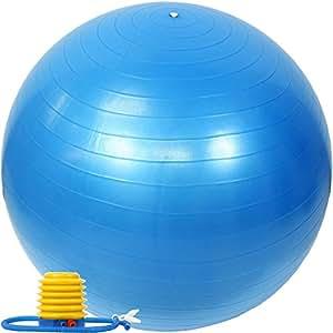 EGS(イージーエス) バランスボール アンチバースト仕様 ポンプ付き ブルー 65cm EG-3062   バランスボール   スポーツ&アウトドア 通販