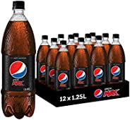 Pepsi Max Cola Soft Drink, 12 x 1.25L