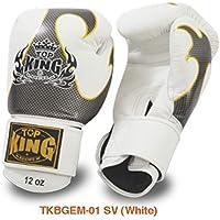 トップキング TOP KING キックボクシンググローブ タトゥ 銀白 14オンス