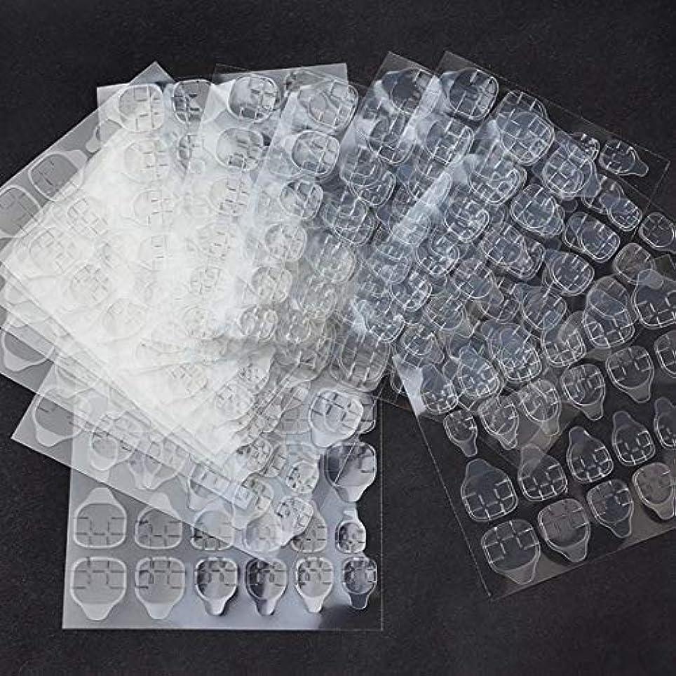 忠実司教リボンOWNFSKNL 10枚防水通気性透明超薄型両面接着タブネイルグルーステッカー偽ネイルのヒント